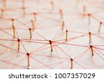 linking entities. network ... | Shutterstock . vector #1007357029