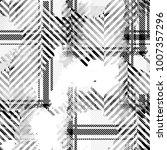 seamless pattern tartan design. ... | Shutterstock . vector #1007357296