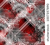 seamless pattern tartan design. ...   Shutterstock . vector #1007357890