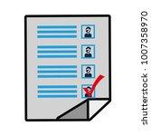 ballot paper icon | Shutterstock .eps vector #1007358970
