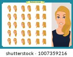 set of woman's emotions design. ... | Shutterstock .eps vector #1007359216