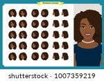 set of woman's emotions design. ... | Shutterstock .eps vector #1007359219