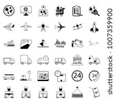 36 icons. delivery shopping and ... | Shutterstock .eps vector #1007359900