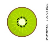 kiwi fruit slice icon. vector...   Shutterstock .eps vector #1007361538