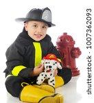 """an adorable preschool """"fireman"""" ...   Shutterstock . vector #1007362093"""