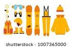 clothing for snowboarding.... | Shutterstock .eps vector #1007365000