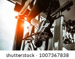 fitness woman working out on...   Shutterstock . vector #1007367838