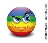 cute curious emoticon  emoji ... | Shutterstock .eps vector #1007369230