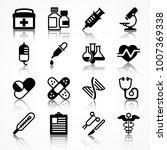 set of medical icons on white... | Shutterstock .eps vector #1007369338