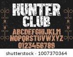 vintage font typeface... | Shutterstock .eps vector #1007370364