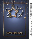 2019 happy new year background... | Shutterstock .eps vector #1007372023