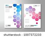 brochure template  flyer design ... | Shutterstock .eps vector #1007372233