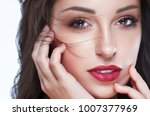beautiful woman skin tanned red ... | Shutterstock . vector #1007377969