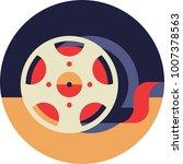 film bobbin icon in flat style   Shutterstock .eps vector #1007378563