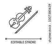 Violin Linear Icon. Thin Line...