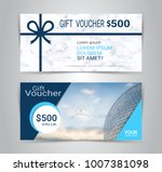 gift certificates and vouchers  ... | Shutterstock .eps vector #1007381098