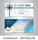 gift certificates and vouchers  ... | Shutterstock .eps vector #1007381158