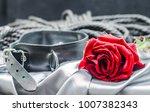 bdsm still life  black human... | Shutterstock . vector #1007382343