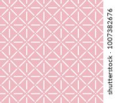 geometric pink seamless pattern.... | Shutterstock .eps vector #1007382676
