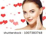 saint valentines day hearts... | Shutterstock . vector #1007383768