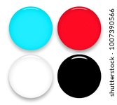 multicolor set of blank round... | Shutterstock .eps vector #1007390566