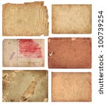 grunge paper pieces on white... | Shutterstock . vector #100739254