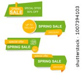 spring sale banners.   Shutterstock .eps vector #1007394103