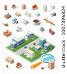 build your own isometric city . ... | Shutterstock .eps vector #1007396824