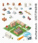 build your own isometric city . ... | Shutterstock .eps vector #1007396848