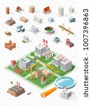 build your own isometric city . ... | Shutterstock .eps vector #1007396863