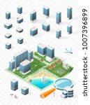 build your own isometric city . ... | Shutterstock .eps vector #1007396899
