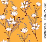 floral seamless pattern... | Shutterstock .eps vector #1007397250