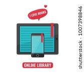 computer tablet and smartphone...   Shutterstock .eps vector #1007398846
