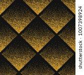 stipplism golden seamless shiny ... | Shutterstock . vector #1007398924
