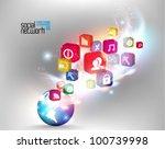conceptual social network... | Shutterstock .eps vector #100739998