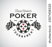 poker tournament emblem label... | Shutterstock .eps vector #1007408320