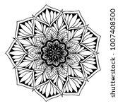 mandalas for coloring book.... | Shutterstock .eps vector #1007408500