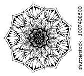 mandalas for coloring book.... | Shutterstock .eps vector #1007408500