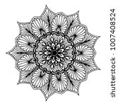 mandalas for coloring book.... | Shutterstock .eps vector #1007408524