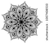 mandalas for coloring book.... | Shutterstock .eps vector #1007408533