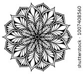 mandalas for coloring book.... | Shutterstock .eps vector #1007408560