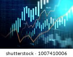 stock market or forex trading... | Shutterstock . vector #1007410006