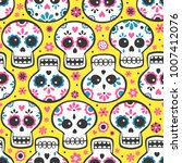 mexican calavera day of the... | Shutterstock .eps vector #1007412076