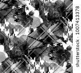 seamless pattern tartan design. ... | Shutterstock . vector #1007413378