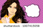 illustration of young beautiful ... | Shutterstock .eps vector #1007415058