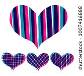 abstract hearts paint stripe... | Shutterstock .eps vector #1007416888