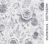 3d rendering  white paper...   Shutterstock . vector #1007418244