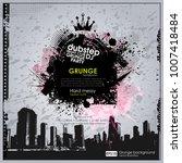 grunge background. vector... | Shutterstock .eps vector #1007418484