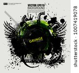 template colour grunge the... | Shutterstock .eps vector #1007419078