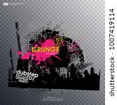 template colour grunge the... | Shutterstock .eps vector #1007419114